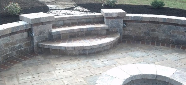 Contemporary Firepit Patio