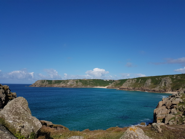 Overlooking Porthcurno from Logan Rock