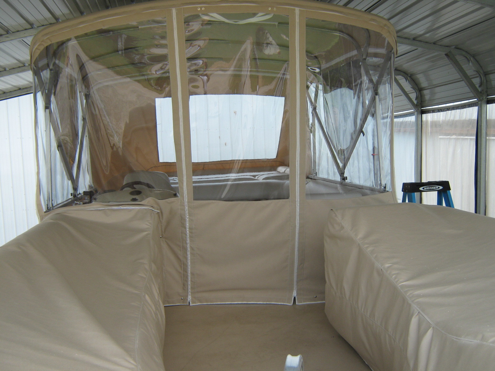 ENCLOSURES  Protect you boat from the elements!
