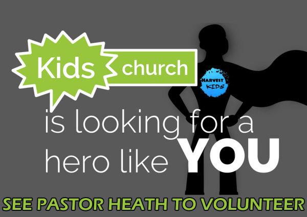 Harvest Kids Volunteers Needed