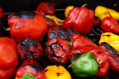 Verduras al horno de leña