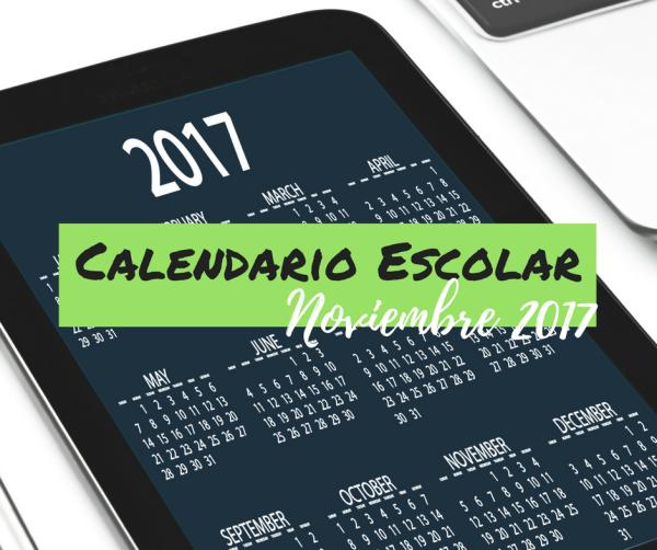 Calendario Escolar Noviembre 2017