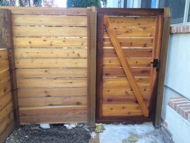 Cedar fencing and gates