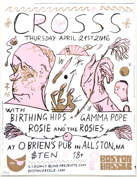 CROSSS & Birthing Hips at O'Brien's April 21ist 2016