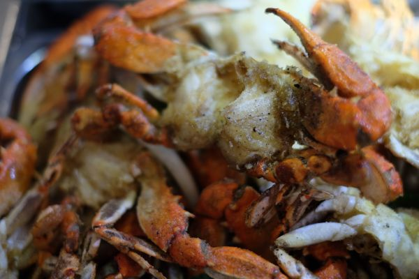 fried blue crabs