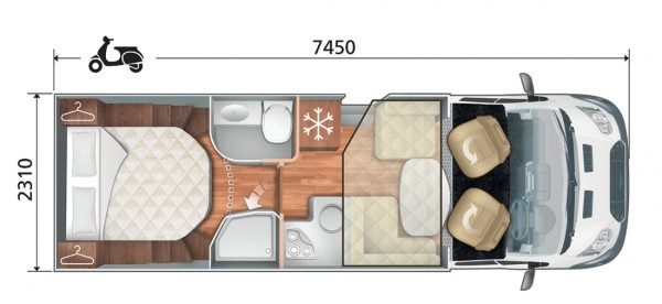 Zefiro 696 Floor Plan