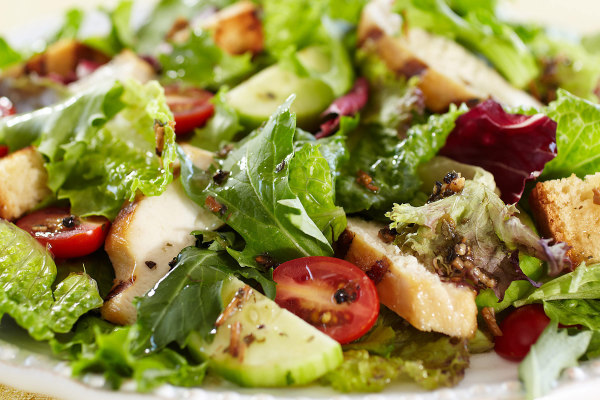 Fresh Salads with homemade dressings