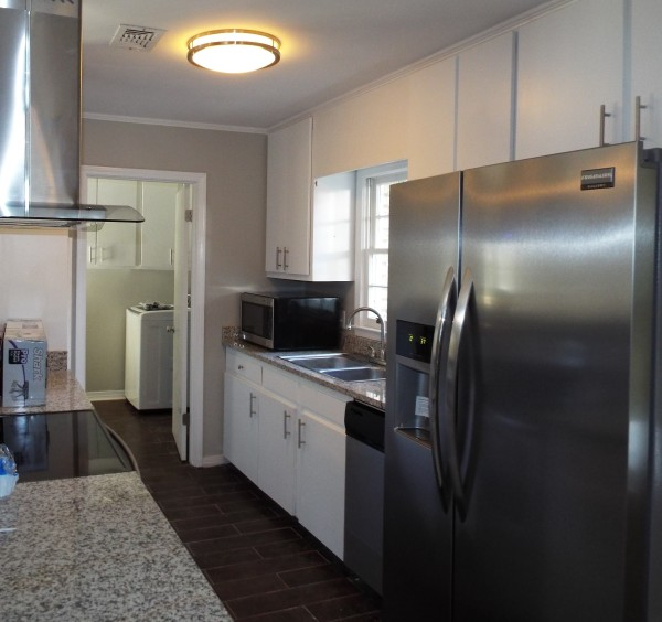 Stainless Steal Hood and Appliances Contemporary Kitchen