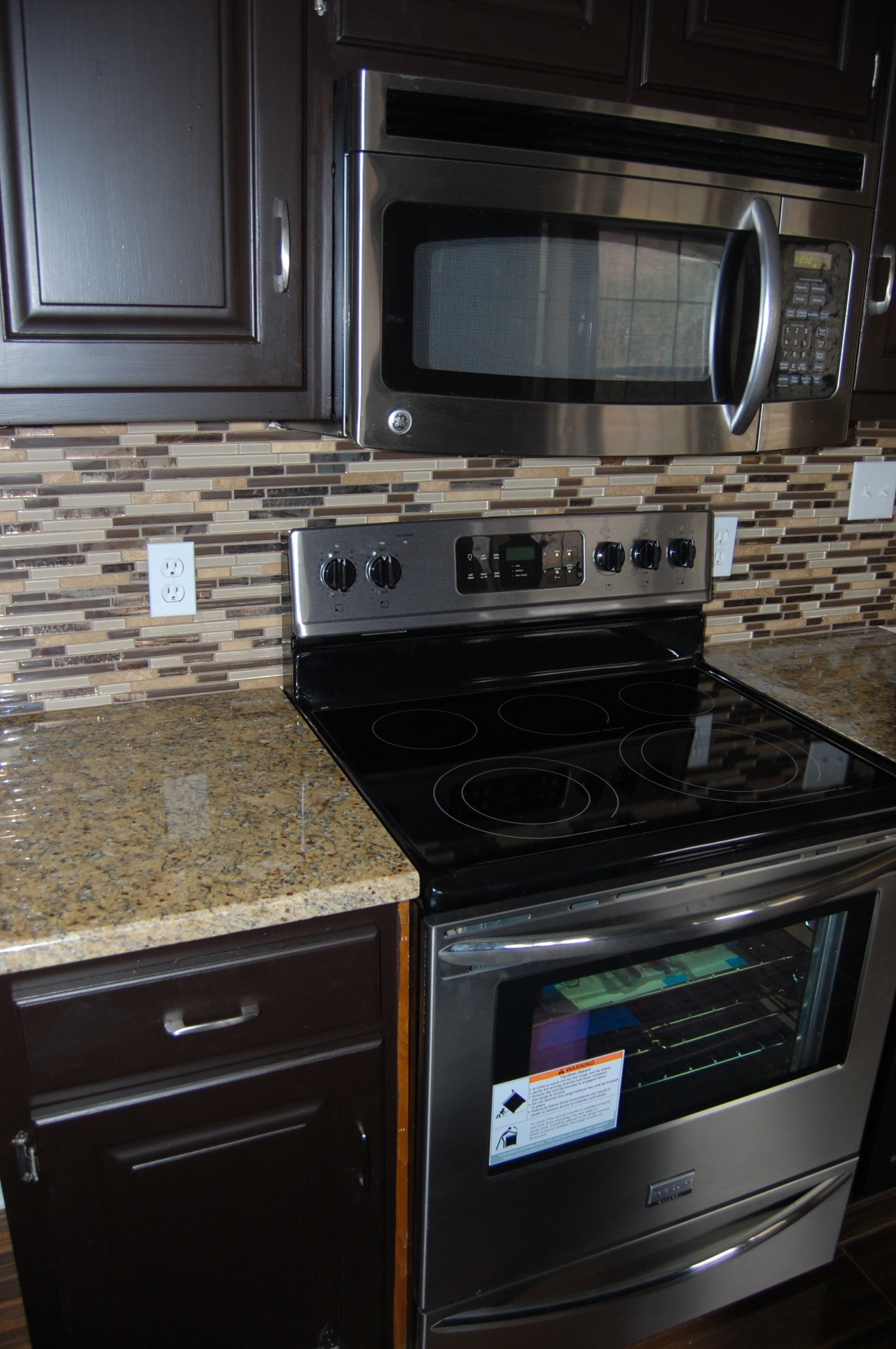 Stainless Steel and Black Appliances
