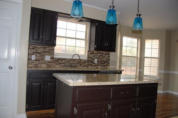Backsplash Linear Mocha Glass Tile