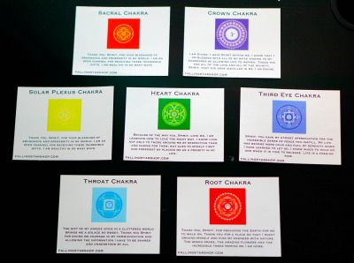 The seven chakra cards