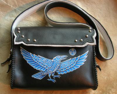 Celtic Crow Bag
