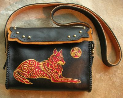 Celtic Wolf Bag