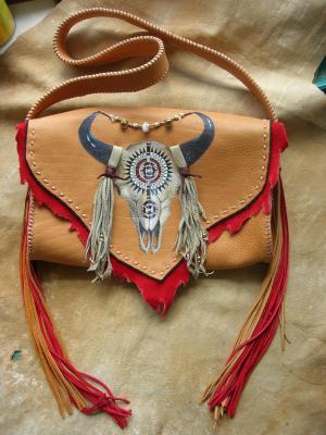 Buffalo Skull Hand Bag