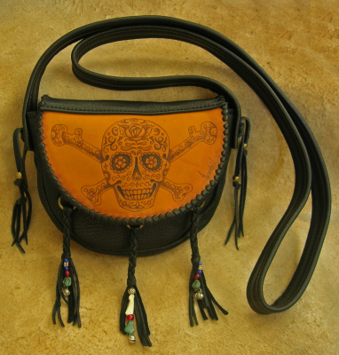 Sugar Skull Pirate Bag