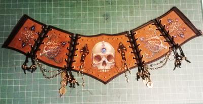 Skull Corset Belt