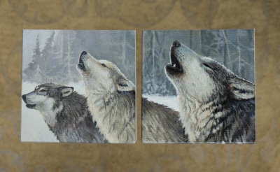 "Sawtooth Wolf Pack 4"" x 4"" Set"