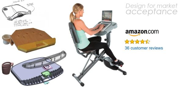 exercise cycle with desk