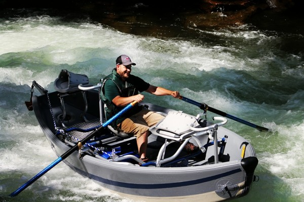 Nantahala class 4 rapids in the NRS drift boat.