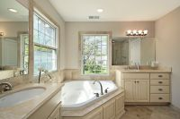 Bathroom Remodel, fixtures, flooring, tub, lighting, shower