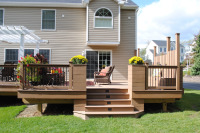 New deck construction, deck remodel, deck design services, deck refinishing, powerwashing existing decks, staining or painting existing or new deck