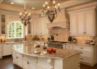 Custom kitchen remodel, lighting, granite countertops, custom cabinets, kitchen island, flooring, custom fixtures and new kitchen appliances