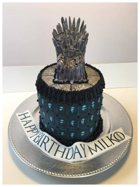 Game of Thrones inspired cake and topper
