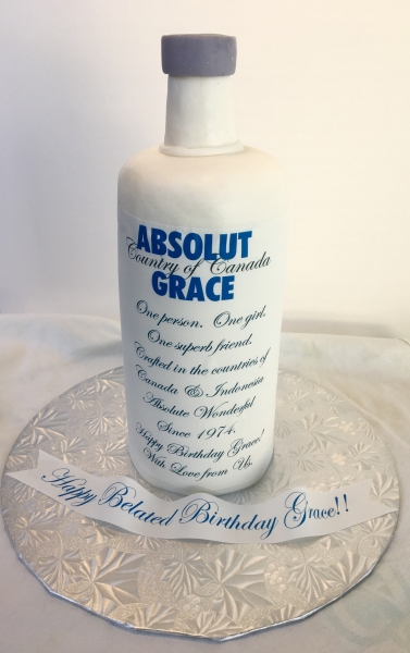 Absolut Bottle Cake by Amazing Edible Images