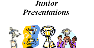 Junior Presentation -  Saturday 8th September