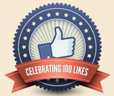 Celebrating 100 FB Likes