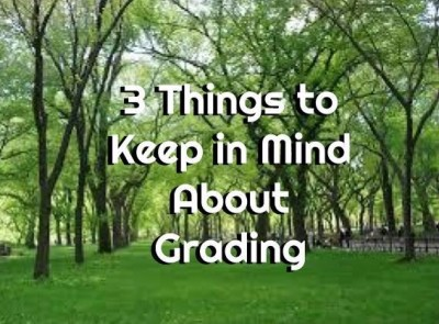 3 Things to Keep in Mind About Grading
