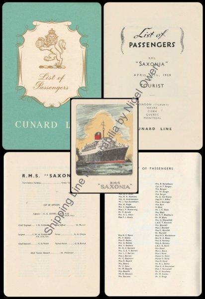 Cunard Shipping Line