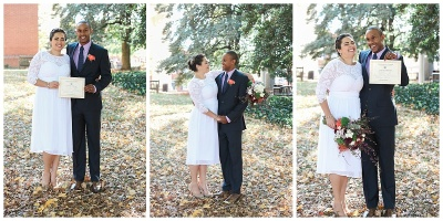 Tyler and Rachel's Charlottesville Courthouse Elopement - Downtown Wedding