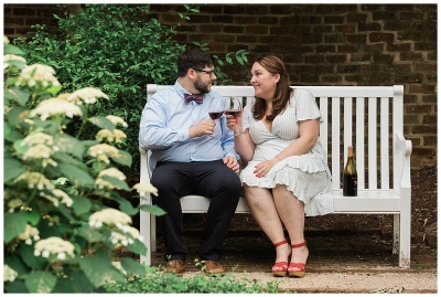 Anniversary Session - University of Virginia Gardens - Samantha and Ryan