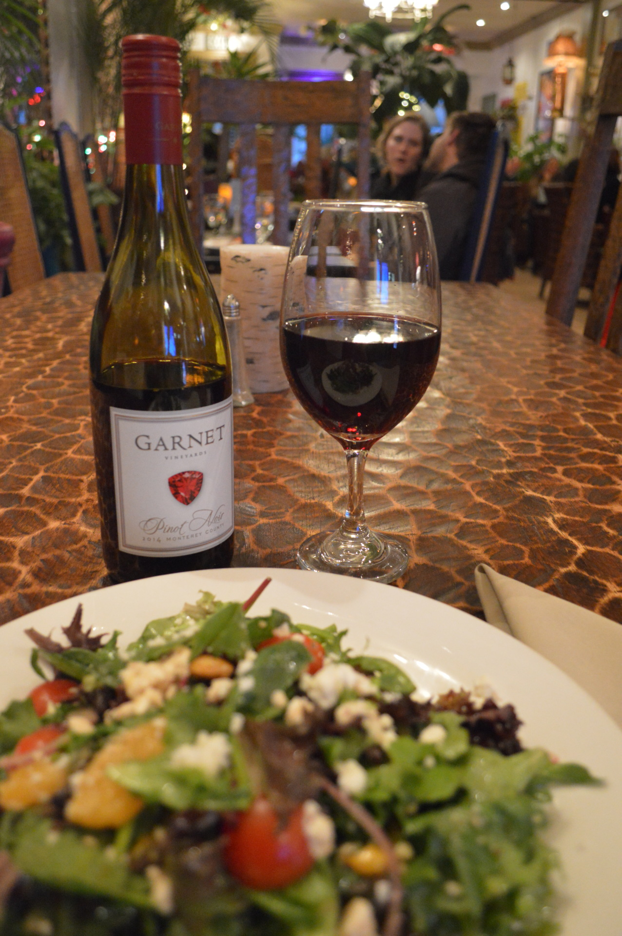 Lavier Signature salad and a nice Merlot!