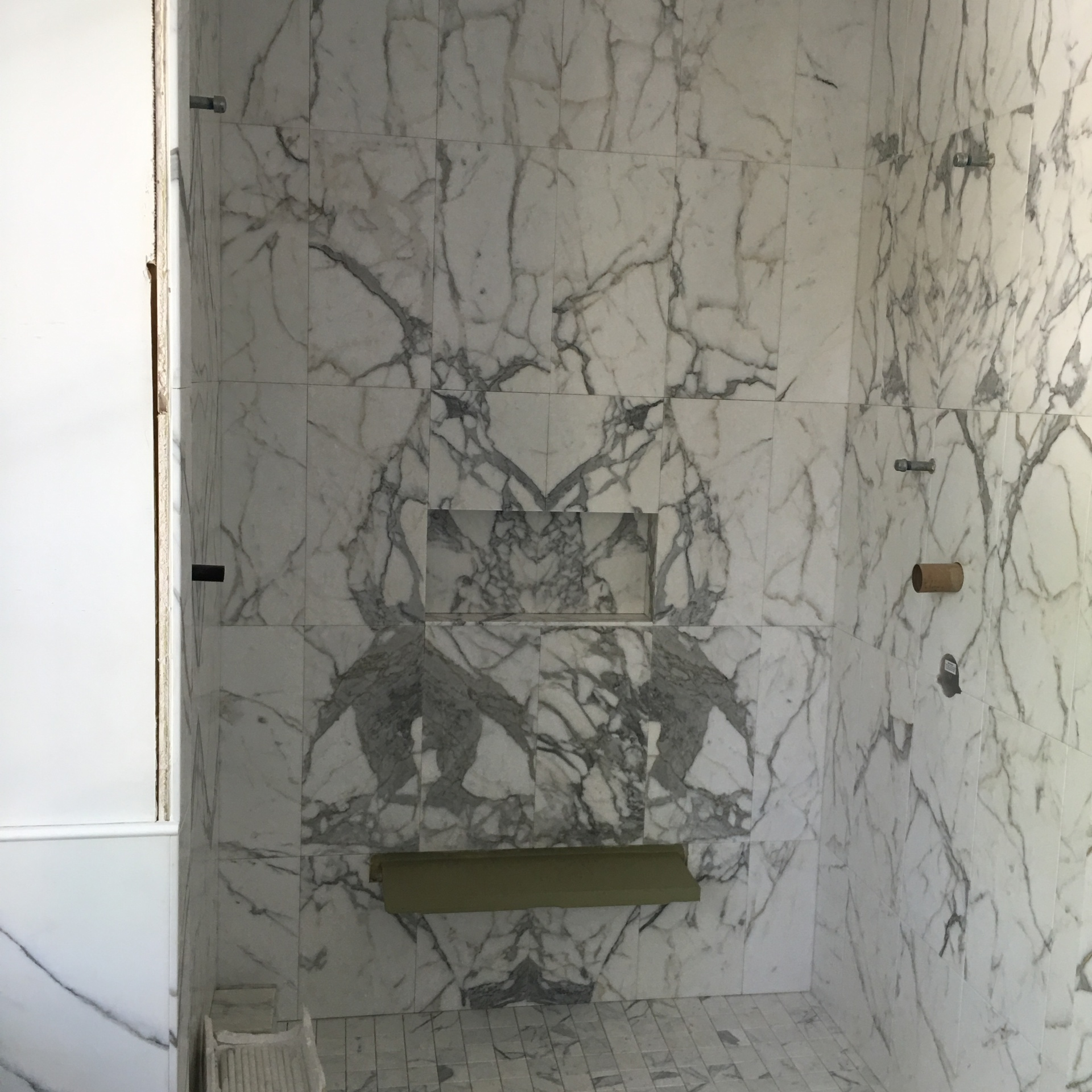 Beautiful book matched marble tile