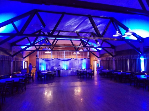 Blue LED Uplighting for Corporate Event in Nova Scotia