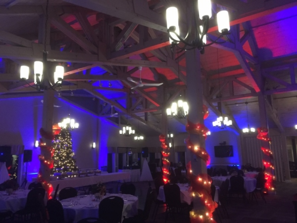 LED Lighting for Staff Christmas Party in Nova Scotia, Halifax