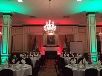 Uplighting for Corporate Staff Party at the Lord Nelson, Halifax, Nova Scotia