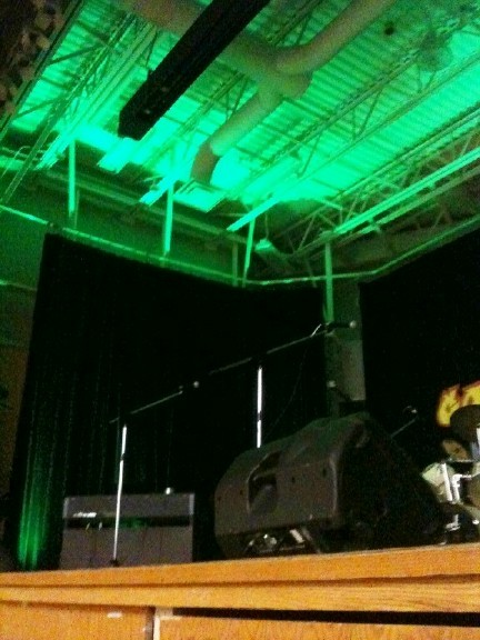 LED Green Uplighting for Talent Show