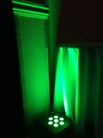 Green LED Uplighting for Wedding in Nova Scotia