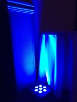 Blue LED Uplighting for Wedding in Nova Scotia