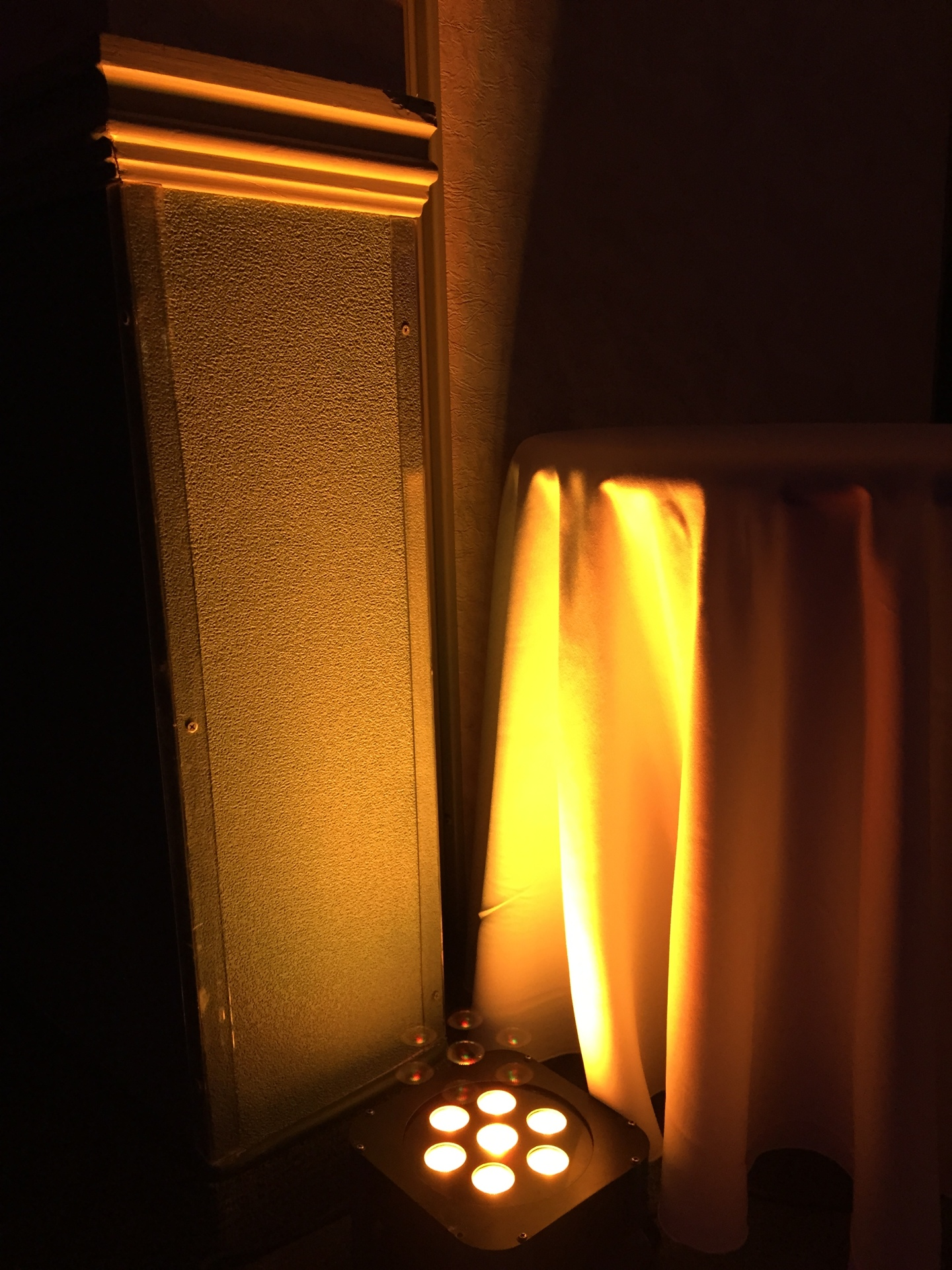 Orange LED Uplighting for New Years Eve in Nova Scotia