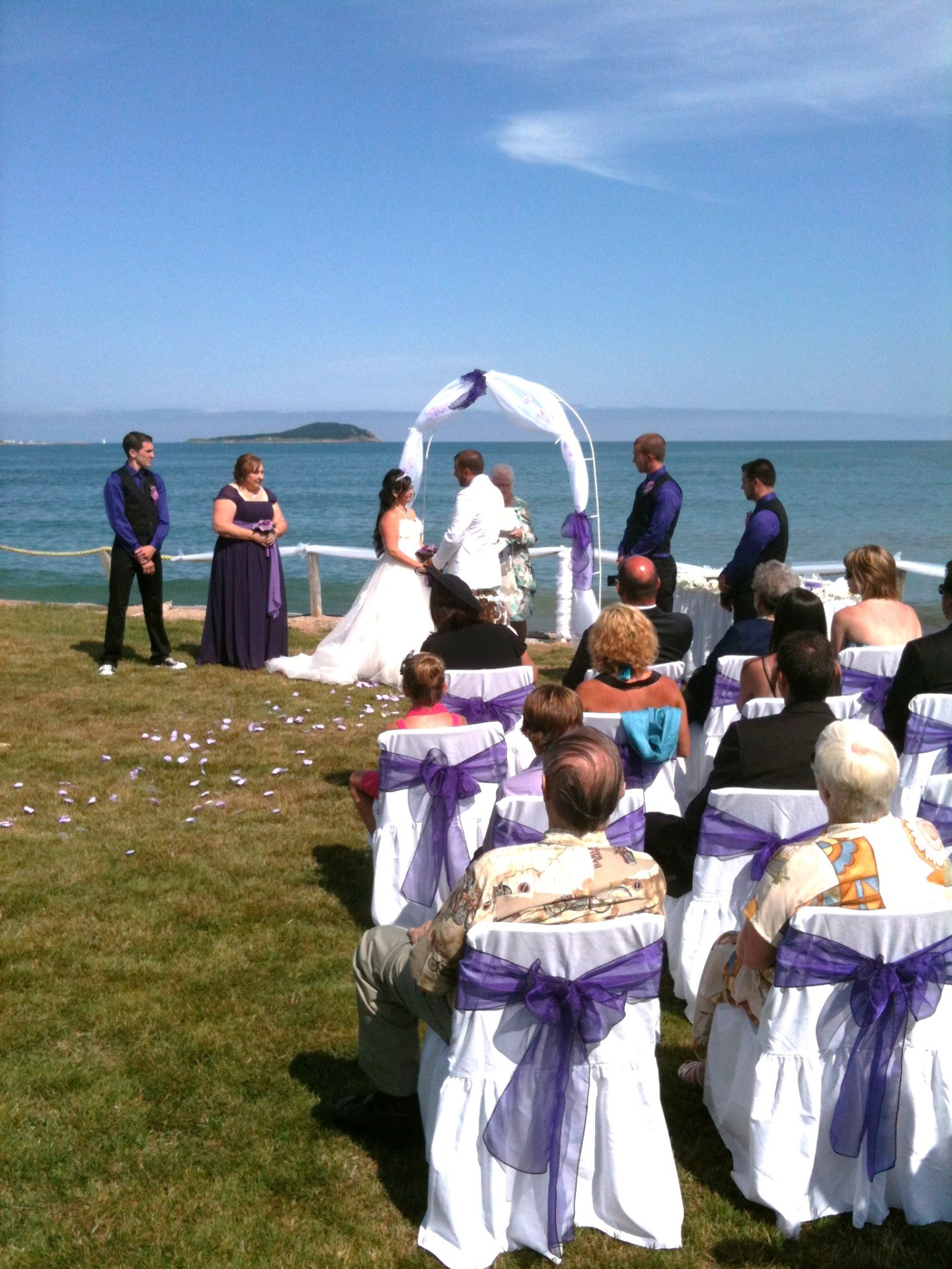 Wedding Ceremony by the Sea in Nova Scotia