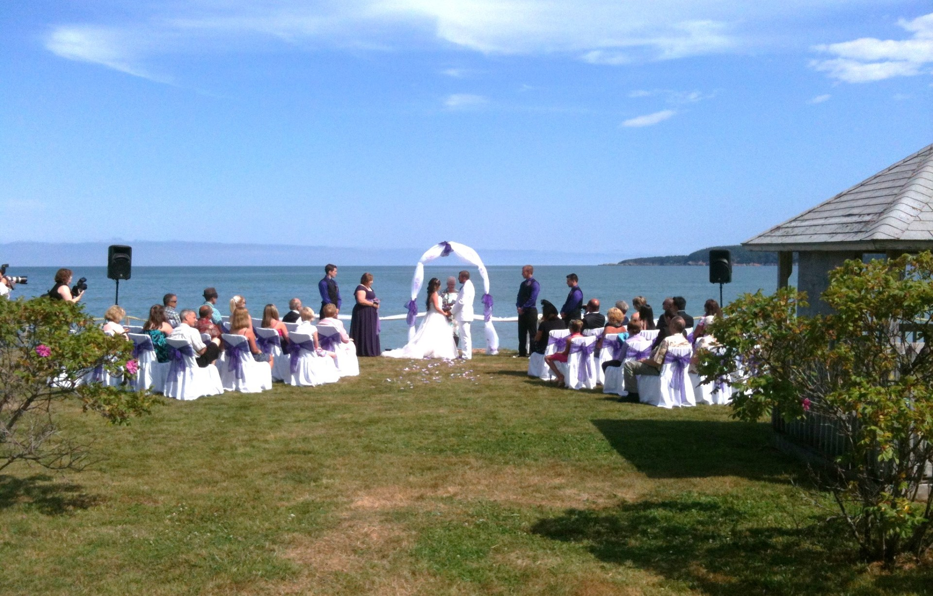 Wedding Ceremony by the Bay in Cape Breton