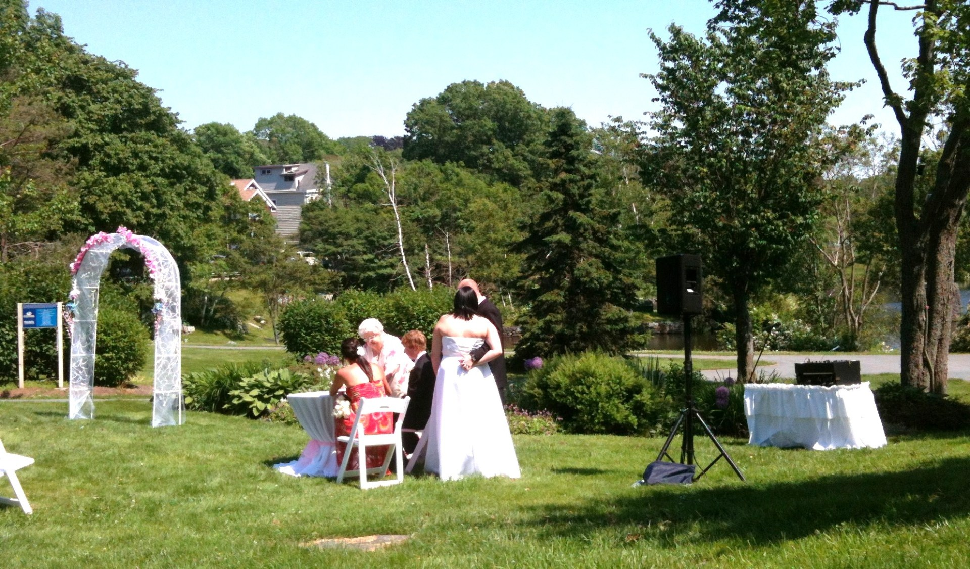 Wedding Ceremony at Sullivan's Pond, Dartmouth, Nova Scotia