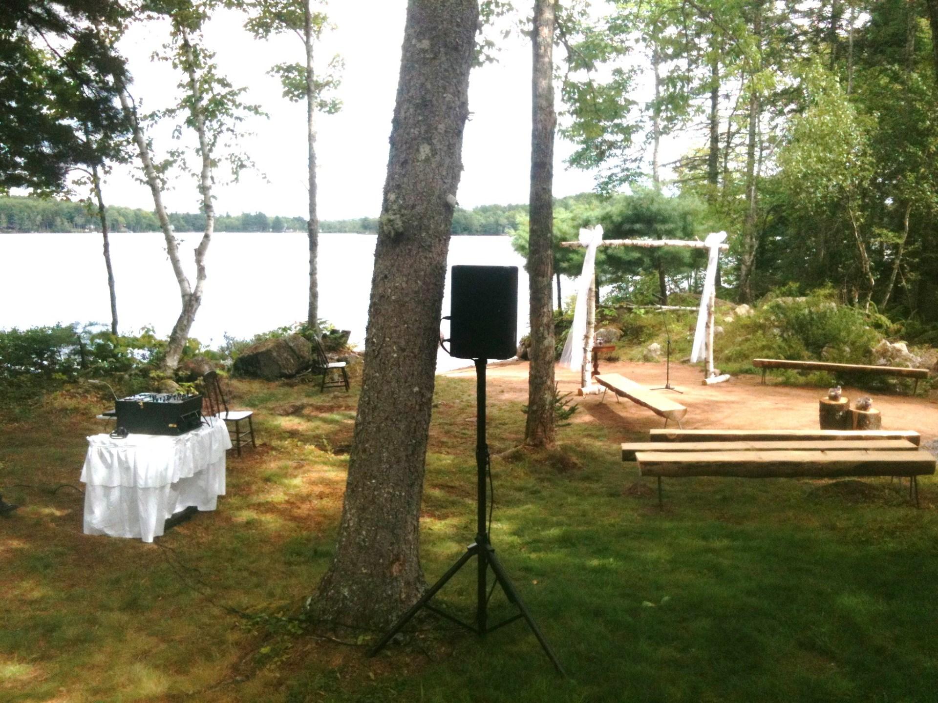 Wedding Ceremony at Murphy Lake, Nova Scotia