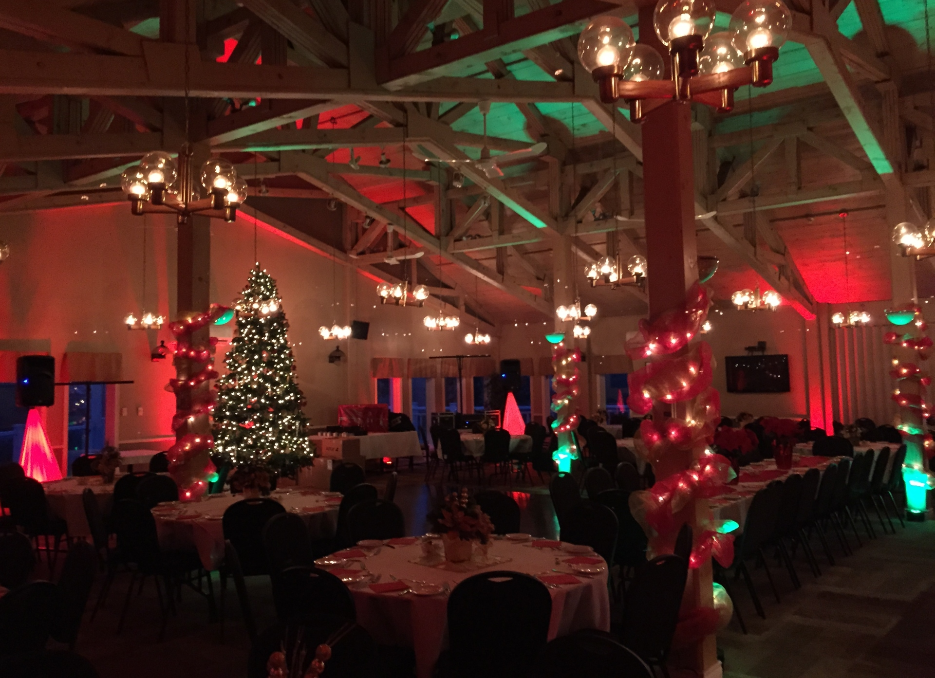 After shot of Uplighting for Corporate Event in Nova Scotia, Halifax
