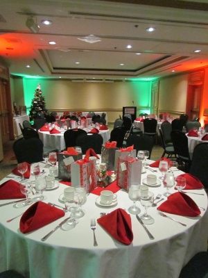 LED Uplighting for Corporate Staff Party in Halifax, Nova Scotia