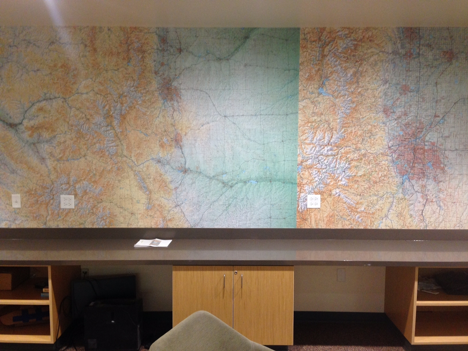 Map mural wall covering - CU Boulder